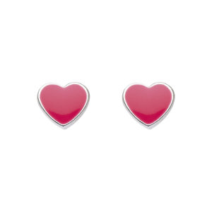 Kit Heath Pink Heart Studs