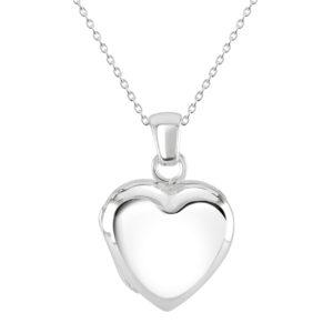 Dew Silver Heart Locket