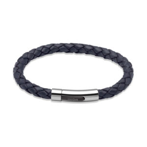 Unique Dark Navy Leather Bracelet
