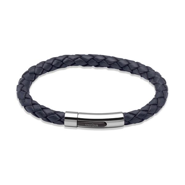 Unique Dark Navy Leather Bracelet