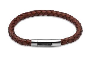 Unique Antique Rust Leather Bracelet