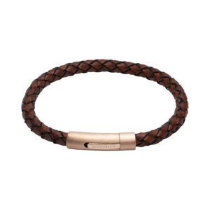 Unique Dark Brown Leather Bracelet