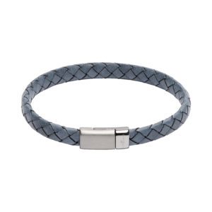 Unique Blue Leather Bracelet
