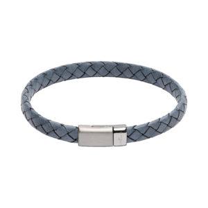 Unique Blue Leather Bracelet