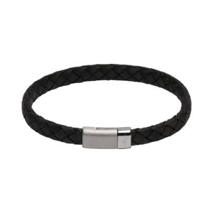 Unique Black Leather Bracelet