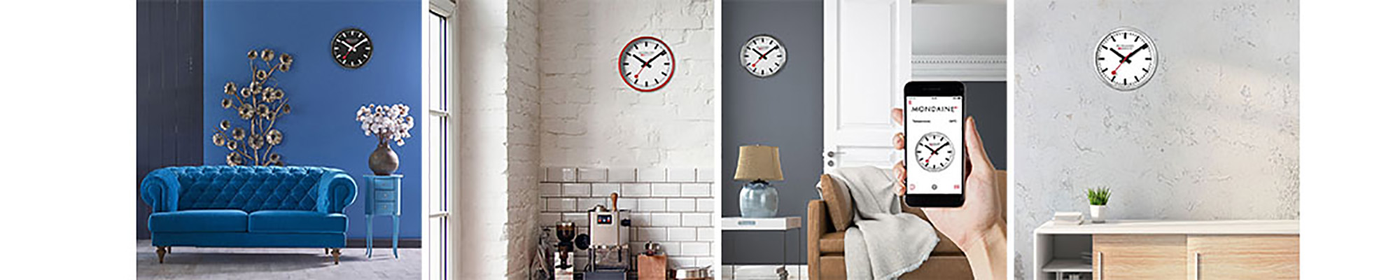 Iconic Mondaine Wall Clocks